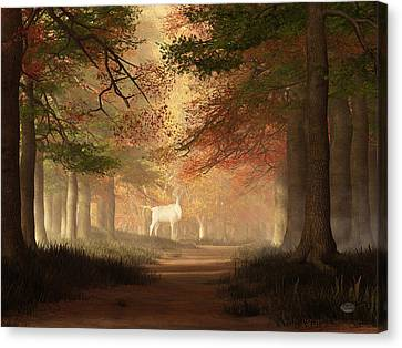 The White Elk Canvas Print