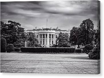 The White House Canvas Print by Unsplash - David Everett Strickler