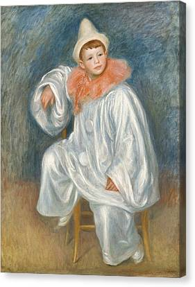 The White Pierrot Canvas Print by Pierre Auguste Renoir