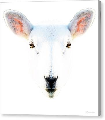 The White Sheep By Sharon Cummings Canvas Print by Sharon Cummings