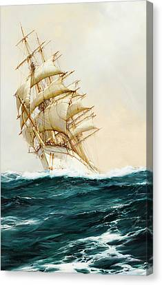 The White Ship Canvas Print by Montague Dawson