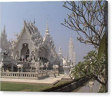 The White Temple Canvas Print by William Thomas