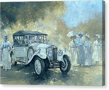 The White Tourer Canvas Print by Peter Miller