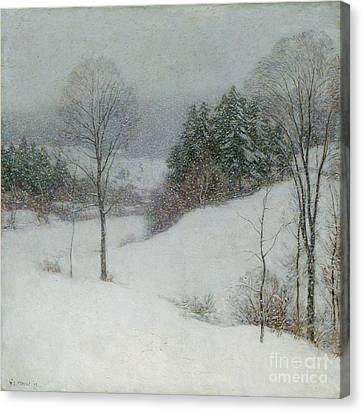 The White Veil Canvas Print by Willard Leroy Metcalf