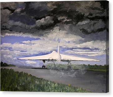 The White Vulcan Canvas Print by Mike Lester