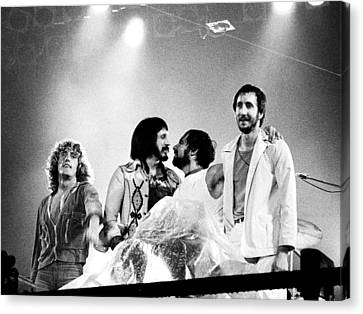 The Who 1976 Canvas Print
