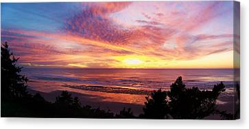 The Whole Sunset Canvas Print by Angi Parks