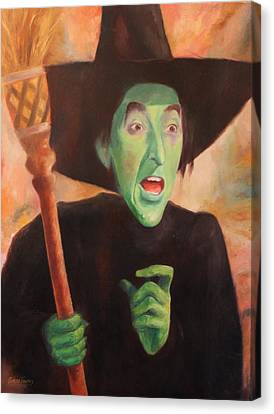 The Wicked Witch Of The West Canvas Print by Caleb Thomas