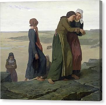 The Widow Canvas Print by Evariste Vital Luminais