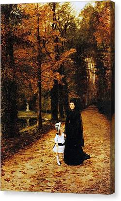 Rivers In The Fall Canvas Print - The Widow by Horace de Callias