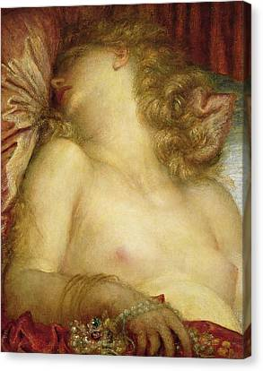 The Wife Of Plutus Canvas Print by George Frederic Watts