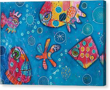Canvas Print - The Wild Kingdom - Undersea by Barbara Orenya