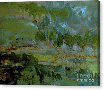 Turquoise And Rust Canvas Print - The Wilderness 2 by Nancy Kane Chapman