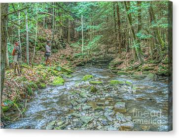 Colonial Man Canvas Print - The Wilderness Trail by Randy Steele