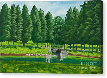 The Willow Path Canvas Print by Charlotte Blanchard