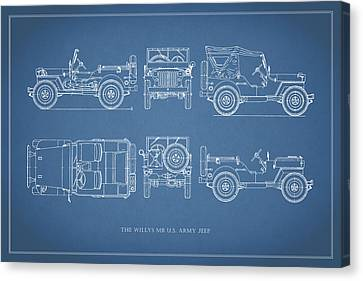 The Willys Jeep Canvas Print