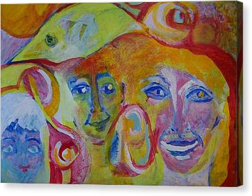 The Wilson Family Loves Their Canary Canvas Print by Judith Redman