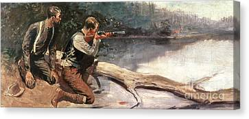 The Winchester Canvas Print by Frederic Remington