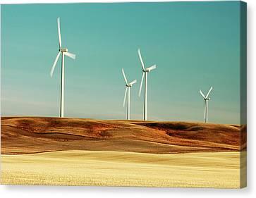 The Windmill Farm Canvas Print by Todd Klassy