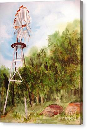The Windmill  Canvas Print by Vicki  Housel