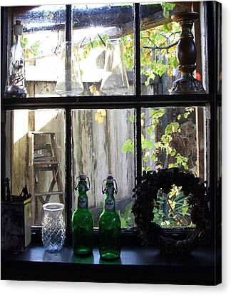 The Window Canvas Print by Mark Alan Perry