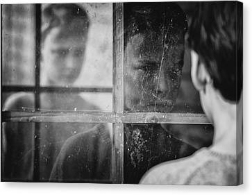 The Window Canvas Print by Mirjam Delrue
