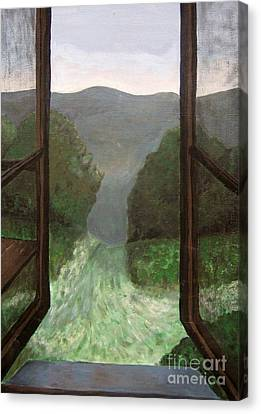 The Window Canvas Print by Reb Frost