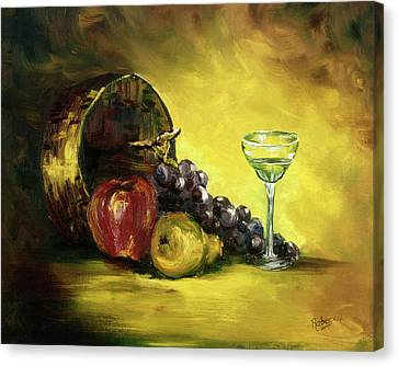 Canvas Print featuring the painting The Wine Glass by Rebecca Kimbel