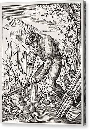 The Wine Grower. 19th Century Canvas Print
