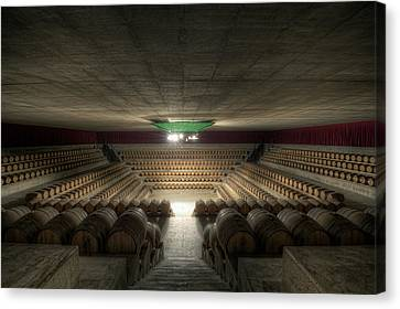 Cellar Canvas Print - The Wine Temple by Marco Romani