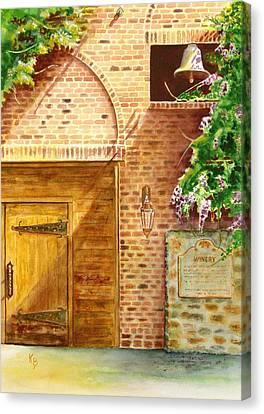 The Winery Canvas Print by Karen Fleschler