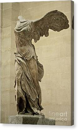 Lourve Canvas Print - The Winged Victory Of Samothrace by Chris Brewington Photography LLC