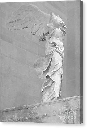 Lourve Canvas Print - The Winged Victory Of Samothrace by Lilliana Mendez