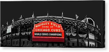 Ballpark Canvas Print - The Winning Confines by Andrew Soundarajan