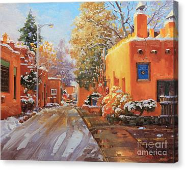 The Winter Beauty Of Santa Fe Canvas Print by Gary Kim