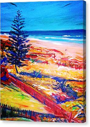 Canvas Print featuring the painting The Winter Dunes by Winsome Gunning