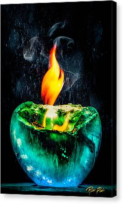Canvas Print featuring the photograph The Winter Of Fire And Ice by Rikk Flohr