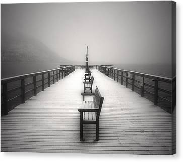 The Winter Pier Canvas Print by Tara Turner