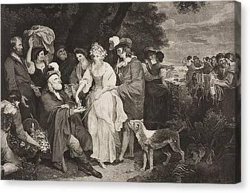 The Winter S Tale. Act Iv. Scene IIi Canvas Print