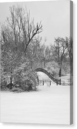 The Winter White Wedding Bridge Canvas Print