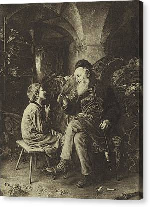 The Wisdom Of Solomon Canvas Print by Ludwig Knaus