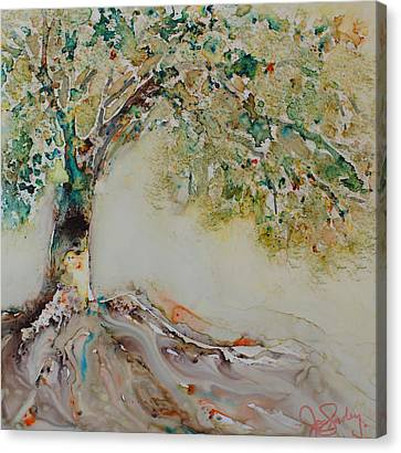 Canvas Print featuring the painting The Wisdom Tree by Joanne Smoley