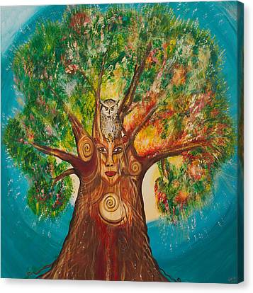 The Wisdom Tree Canvas Print by Solveig Katrin