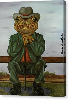 Canvas Print - The Wise Toad by Leah Saulnier The Painting Maniac
