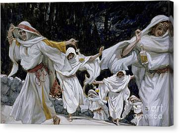 The Wise Virgins Canvas Print by Tissot