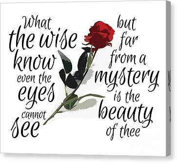 The Wise - Rose No.1 Canvas Print