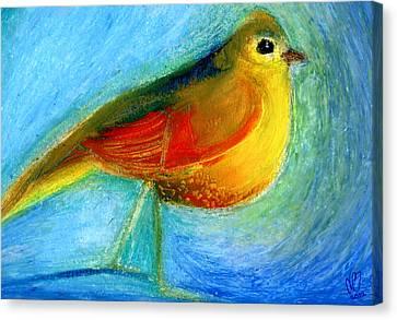 The Wishing Bird Canvas Print by Nancy Moniz