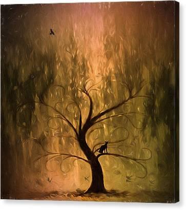 The Wishing Tree Canvas Print by Hazel Billingsley