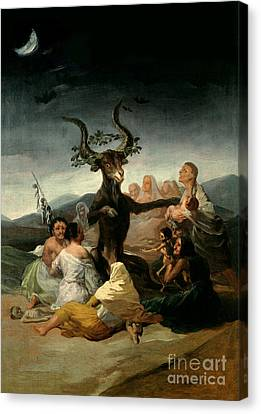 The Witches' Sabbath Canvas Print by Goya