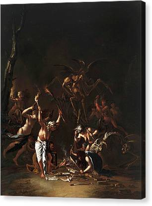 The Witches' Sabbath Canvas Print by Salvator Rosa